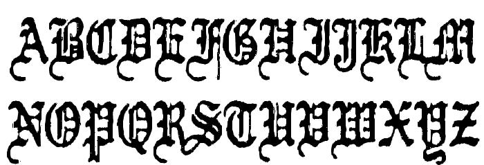 Kraut-type-a-fuck Font UPPERCASE