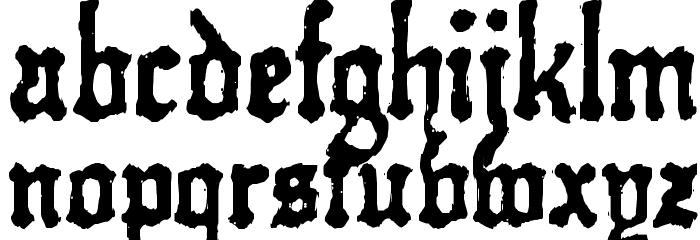 Kraut-type-a-fuck Font LOWERCASE