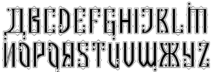 Kremlin Czar Font UPPERCASE