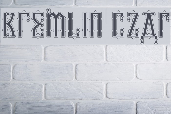 Kremlin Czar Font examples