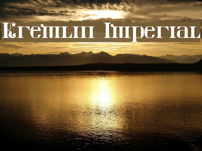 Kremlin Imperial Font examples