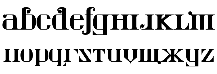 Kremlin Imperial Font LOWERCASE