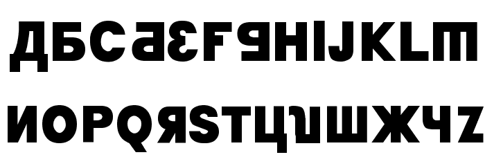 Kremlin Minister Black Font UPPERCASE