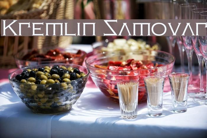 Kremlin Samovar Font examples
