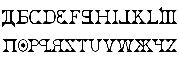 Kremlin Font UPPERCASE