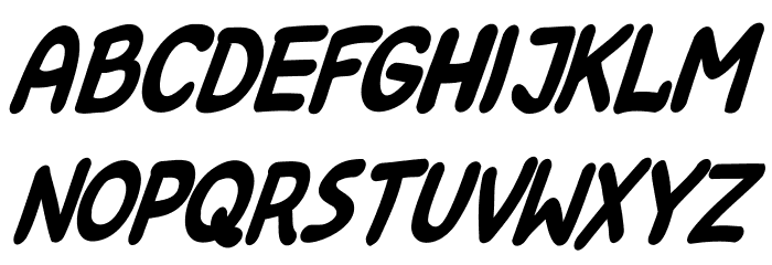 Kreskwka  Italic Шрифта ВЕРХНИЙ