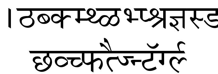 Krishna Normal Font UPPERCASE
