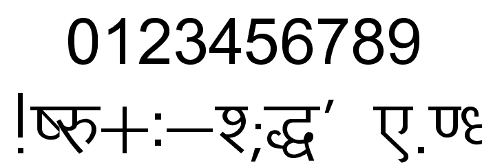 Kruti Dev 010 Font OTHER CHARS