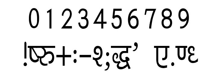 Kruti Dev 040 Condensed Font OTHER CHARS