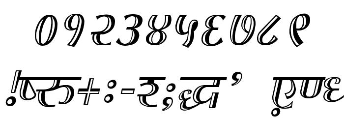 Kruti Dev 070  Thin Font OTHER CHARS