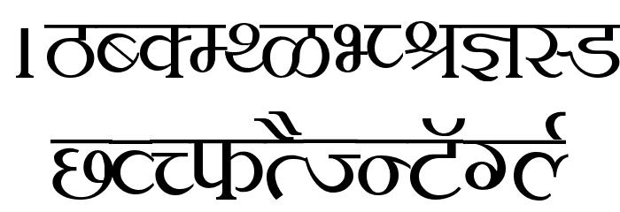 Kruti Dev 100 Font UPPERCASE