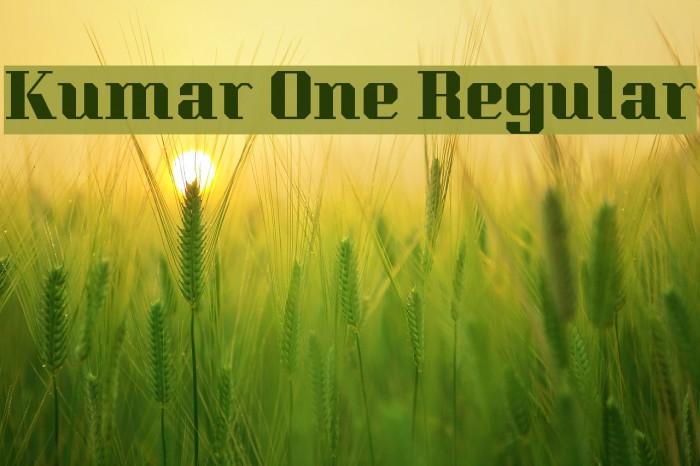 Kumar One Regular Fonte examples
