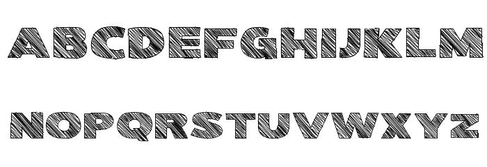 Kwixter Sketch Caratteri MAIUSCOLE