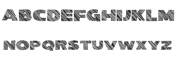 Kwixter Sketch Font LOWERCASE