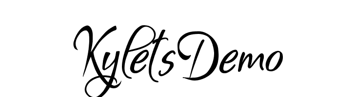 Kylets Demo  Free Fonts Download