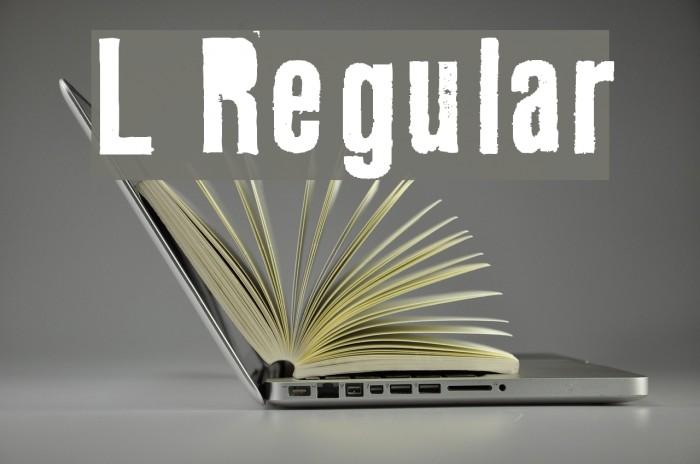 L Regular Font examples