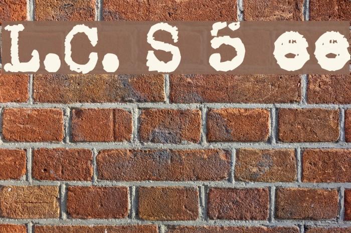 L.C. Smith 5 typewriter Шрифта examples