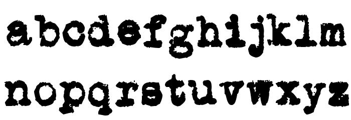 L.C. Smith 5 typewriter Шрифта строчной