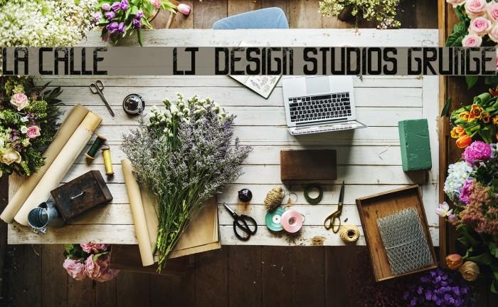 LA CALLE 6 - LJ-Design Studios Grunge Шрифта examples
