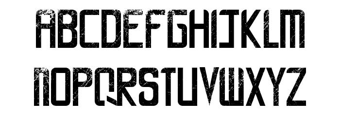 LA CALLE 6 - LJ-Design Studios Grunge Шрифта строчной