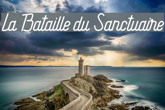 La Bataille du Sanctuaire Font examples