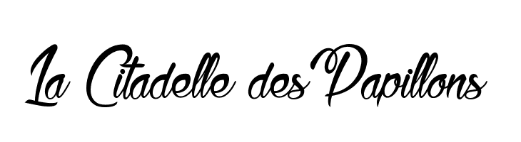 La Citadelle des Papillons  Free Fonts Download