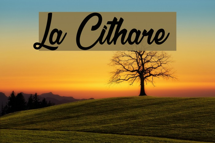 La Cithare Шрифта examples