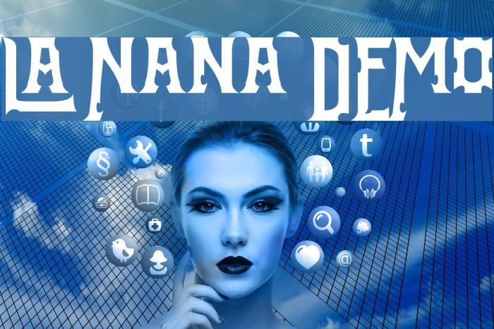 La Nana DEMO फ़ॉन्ट examples