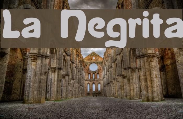 La Negrita Font examples