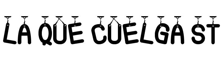 La Que Cuelga St  Free Fonts Download