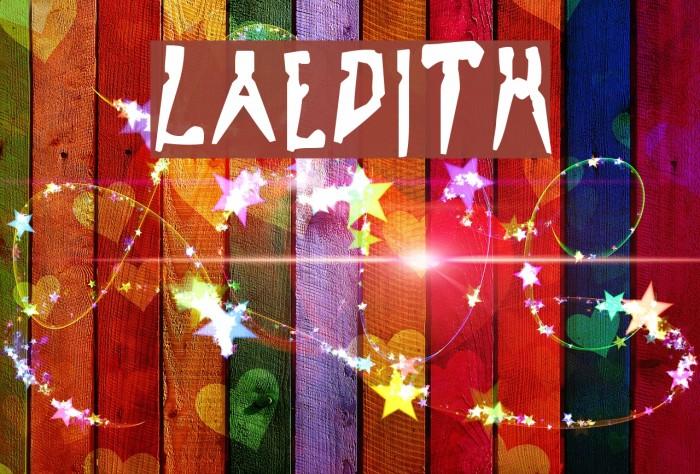 LaEdith لخطوط تنزيل examples