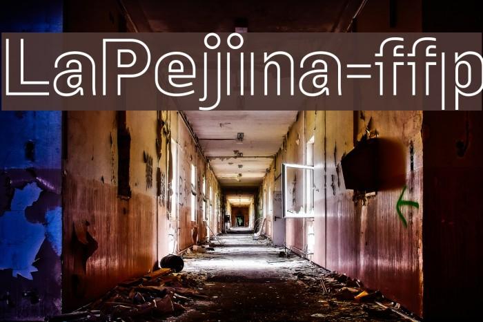 LaPejina-ffp फ़ॉन्ट examples