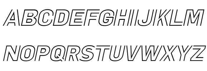 LaPejinaItalicFFP-Italic फ़ॉन्ट अपरकेस