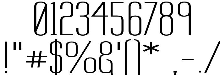 Labtop Secundo Wide Шрифта ДРУГИЕ символов