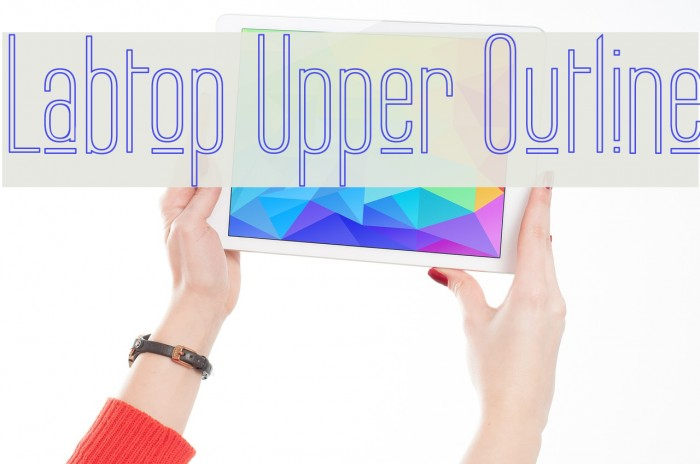Labtop Upper Outline Fonte examples