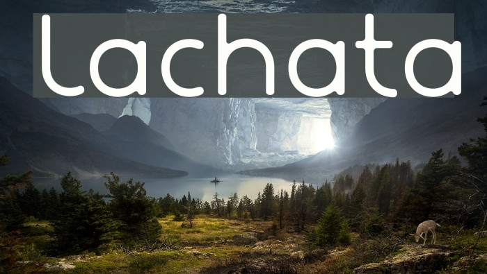 Lachata Font examples