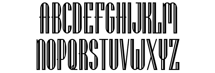 Lagniappe Inline NF Font UPPERCASE