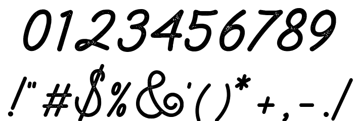 Lambretta Script Stamp フォント その他の文字