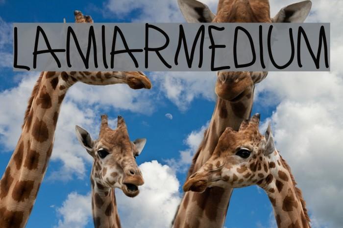 LamiarMedium Шрифта examples