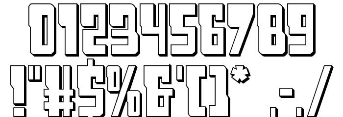 Lamprey 3D Regular Шрифта ДРУГИЕ символов