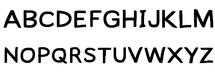 Lampshade Extended Font UPPERCASE
