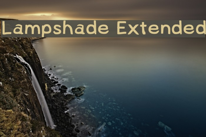 Lampshade Extended Font examples