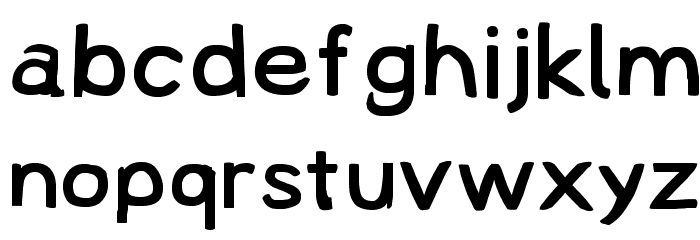 Lampshade Extended Font LOWERCASE