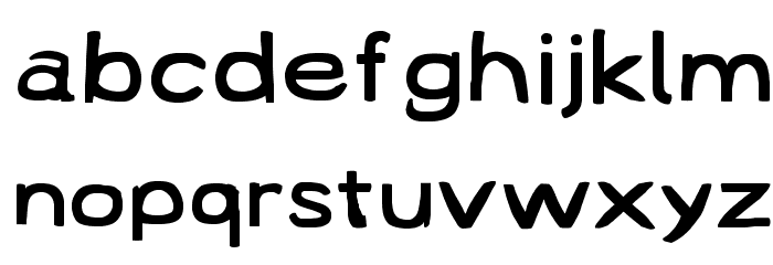 Lampshade SuperExtended Font LOWERCASE