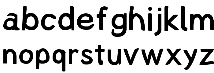 Lampshade Font LOWERCASE