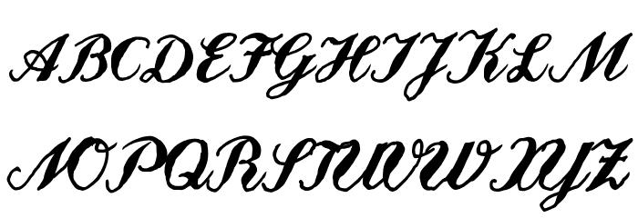 Landliebe Font UPPERCASE