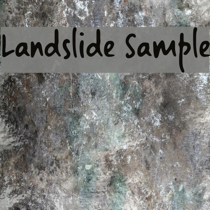 Landslide Sample 字体 examples