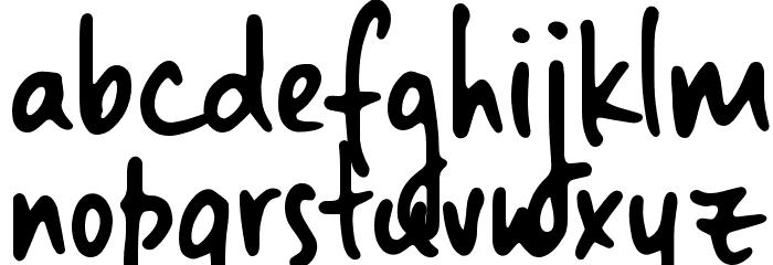 Landslide Sample 字体 小写