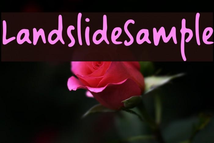 LandslideSample Font examples