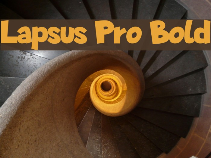 Lapsus Pro Bold Fonte examples